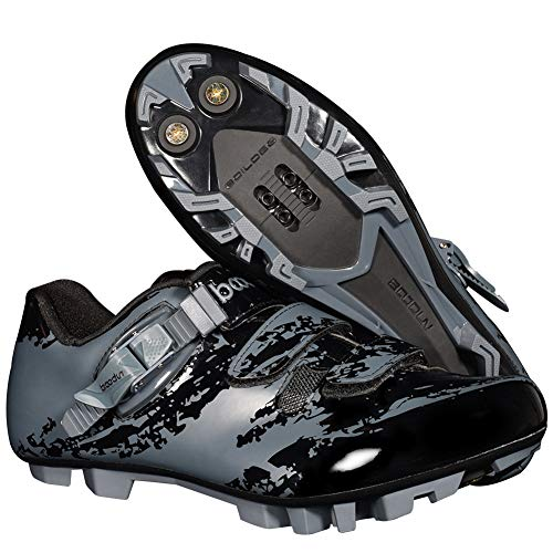 Hzikk Zapatos De MTB Zapatos De Los Hombres Transpirable Profesional para Bicicleta Autoblocante Los…