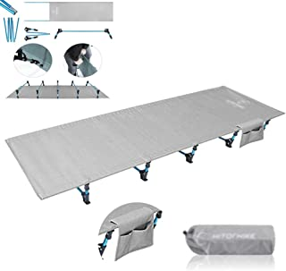 Single Folding Bed Frame,Outdoor Folding Single Bed Camp Bed Office Lunch Break Camping Portable Folding Bed, Gray 190.5 * 70 * 17Cm