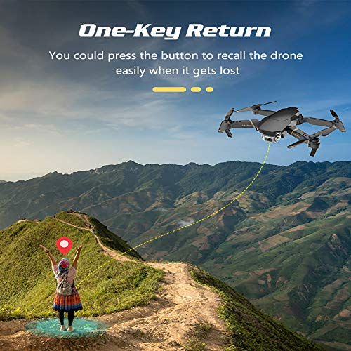 Amyove GD89 RC Drohne mit optionaler 4K HD Kamera FPV WiFi Höhe halten Selife Drone Folding RC Quadcopter 1080P