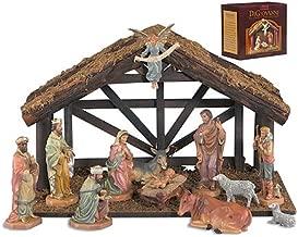 Avalon Gallery DiGiovanni Christmas Nativity 12-Piece Stable Scene Set