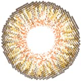 Matlens – EOS Farbige Kontaktlinsen ohne Stärke honey honigbraun Big eyes G-307 2 Linsen 1 Kontaktlinsenbehälter 1 Pflegemittel 50ml