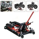 Motorbike Lifter - 1500LB/680Kg Hydraulic Motorcycle Lift With 2 Castors Stand ATV Jack Hoist