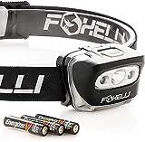 Foxelli Headlamp Flashlight - 165 Lumen, 3 x AAA Batteries Operated,...