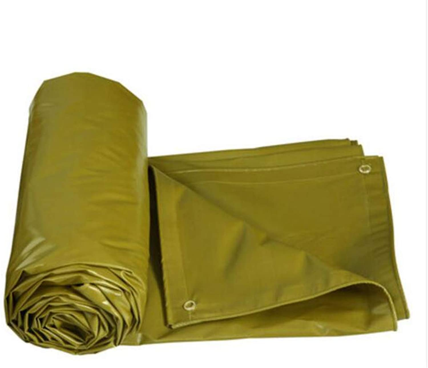 Shade Cloth, Tarpaulin PVC Thicken Rainproof Sunscreen Shade Shed Cloth Canvas Outdoor Lorry (color   Yellow, Size   5  4M)