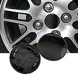 70mm(2.76in)/54mm(2.13in) Black Car Wheel Center Hub Caps Set of 4 for 2000-2011...
