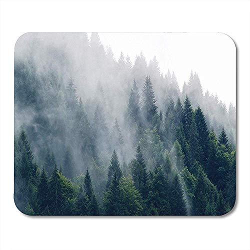 Mausepad Wald Evanescent Atmosphäre Im Wald Wickelte Nebel-Gebirgsnatur-Mausunterlage 25X30Cm Ein