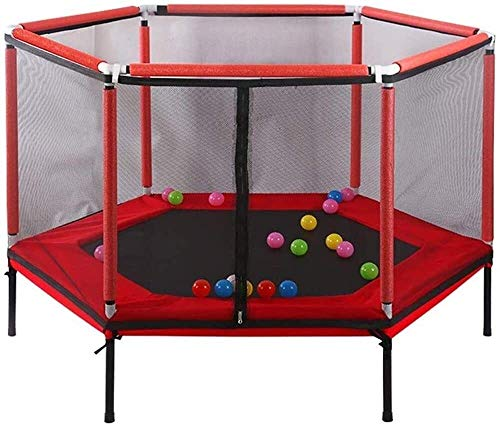 YWAWJ Kids Trampoline Round Jumping Table with Enclosure Net Jumping Mat and Spring Cover Padding Indoor Outdoor Yard Trampolines for Children (Size : A)