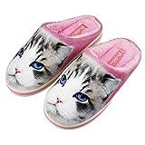 FakeFace - Zapatillas de Estar Por Casa Hombre, (gato), 38/39 EU