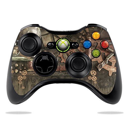 MightySkins Skin Compatible with Microsoft Xbox 360 Controller - Steam Punk Room | Protective, Durable, and Unique Vinyl Decal wrap Cover | Easy to Apply, Remove, and Change Styles | Made in The USA