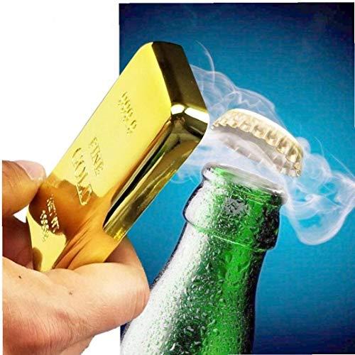 Bongles Gold Bar Flaschenöffner Magnet Goldene Anlage Kühlschrank Beer Bar Küchengeräte Küchenhelfer Platte Küchenzubehör