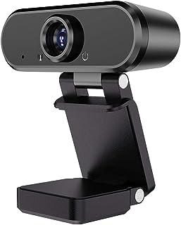 no logo MiMoo Full 1080P HD Webcam, Beauty USB Computer Desktop Laptop with Microphone Live Portrait Video Webcam, Capture...