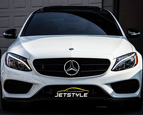 JetStyle LED Emblem for Mercedes Benz 2011-2018, Front Car Grille Badge, Illuminated Logo Hood Star DRL, White Light - Drive Brighter