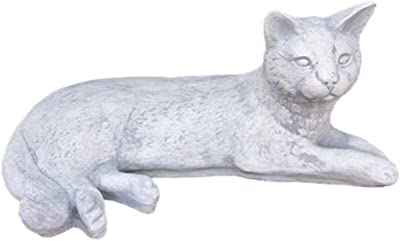 Massive Steinfiguren Sonderangebot Set Katze aus Steinguss frostfes 2 Katzen