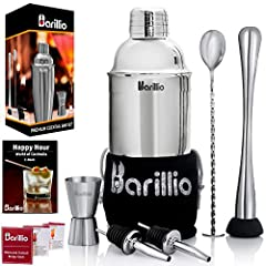 SERVE YOUR GUESTS WITH STYLE: BARILLIO COCKTAIL SHAKER SET ANSWERS ALL YOUR NEEDS! » No more purchasing unnecessary bar accessories you'll never use. BARILLIO provides most essential bar accessories you need for mixing delicious cocktails & mocktails...