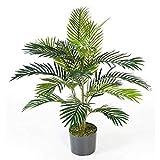 artplants.de Künstliche Areca Palme Jennica im Zementtopf, 17 Palmwedel, 90cm - Kunstpalme - Dekopalme