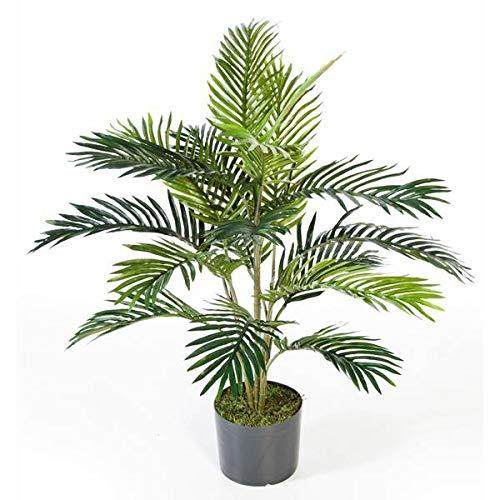 artplants.de Palmera Areca Artificial en Maceta de Cemento, 17 frondas, 90cm - Palma Artificial - Palmera Decorativa