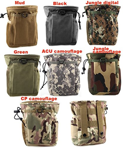 Greenpromise Großes Fassungsvermögen Molle Military Tactical Tasche Paintball Jagd Zusammenklappbar Mag Recovery Dump Tasche Camping Klettern Staubbeutel, CP Camouflage