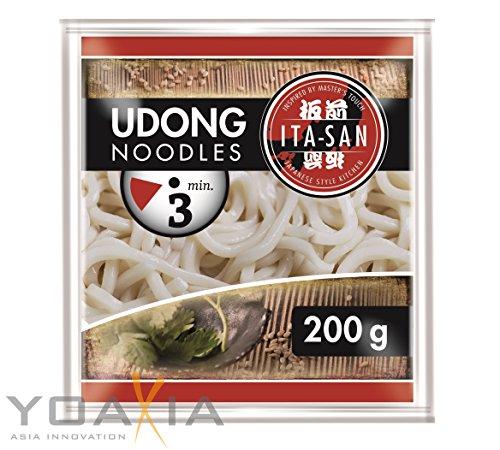 30er-Pack - ITA-SAN Udon-Nudeln UDONG [ 30 x 200g ] vorgekochte Nudeln nach japanischer Art + ein kleines Glückspüppchen - Holzpüppchen