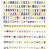 199 letras, números, emoticonos MULTICOLOR para caja de luz A4, A3 y A5. (sin caja de luz)
