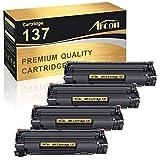 Arcon Compatible Toner Cartridge Replacement for Canon 137 Cartridge 137 CRG137 9435B001AA Canon Imageclass MF236n D570 MF249dw MF244dw MF247dw MF232w LBP151dw MF227dw MF229dw MF216n MF212w Toner-4PK