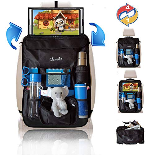 Clamadie ® autostoelbeschermer voor autostoelen, autobeschermers, autohouder voor auto, tablet-autohouder voor speelgoed, accessoires voor auto