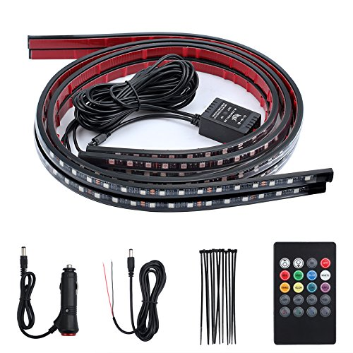 Justech Tira de LED 8 Colores Luces LED Coche con 16 Modos...