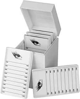 Suporte de visor para cílios postiços Recipiente de armazenamento de cílios, caixa de armazenamento de cílios, para maquia...
