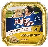 MIGLIOR CANE Set 22 150 Gr. Umido Pollo-Tacchino Cibo per Animali