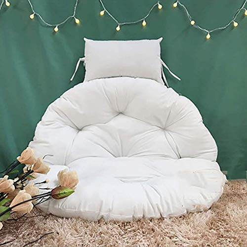 Cuscino per Sedia in Rattan, Poltrona Relax sospesa Moon Sedia a Dondolo da Giardino Sedia Intrecciata in Vimini Amaca Cuscini per sedili Blu Scuro