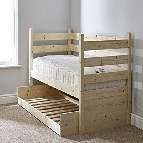 Strictly Beds and Bunks - Pine Day Bed Frame with Pull-out Trundle Guest Bed, 3ft Single