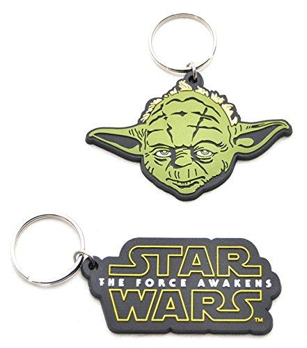 2 X Star Wars Set Yoda + Logo Schlüsselanhänger Anhänger by schenkfix