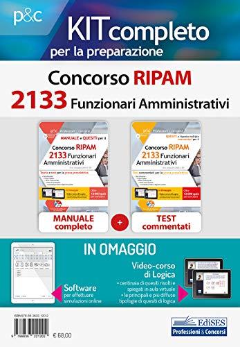 Kit Concorso 2133 Funzionari Amministrativi Ripam – CONTIENE Manuale + Test Commentati + software e Videocorso di Logica