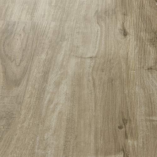 neu.holz Vinyl Laminat ca. 1 m² 'Natural Siberian Oak' Bodenbelag Selbstklebend rutschfest 7 Dekor-Dielen für Fußbodenheizung