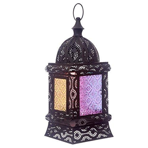 Lanterne Marocaine carrée Noire de 16 cm