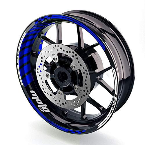 MC MOTOPARTS Rim Wheel Decal Stickers 17 inch Rim Tape GP02 Compatible with SV650X SV650 VSTROM 250 650 SFV 650 GSX-R600 GSXR750 GSX-R750 GSXR1000 GSX-R1000 GSX1300R B-King GSX-R250 GSX250R (Blue)