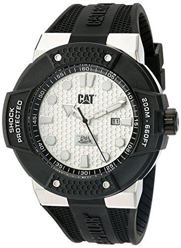 Cat Watches Shockmaster - Reloj analógico de Cuarzo para Hombre, Color Negro