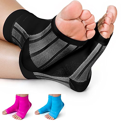 1st Elite X-Sleeves- Compression Socks Men Women - Highest Compression for Serious Foot Pain (32-44mmhg) Plantar Fasciitis Arch Support + Foot Brace (2 Compression Sleeves)