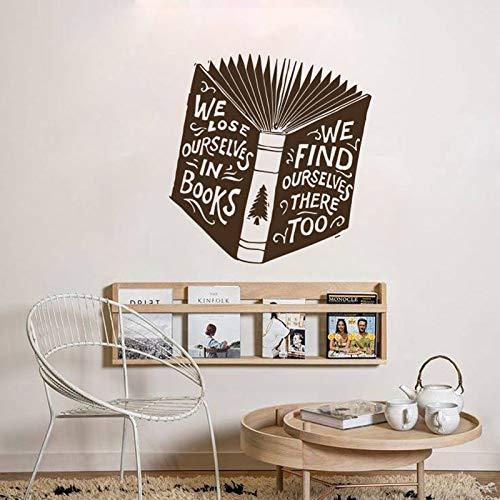 zhuzhuwen Stitch Wall Stickers, We verliezen onszelf in boeken vinden te boek lezen, Vinyl behang Wall Art