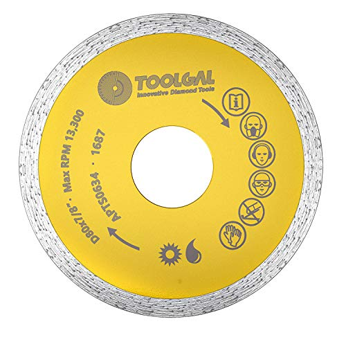 """TOOLGAL Diamond Blade 3"""" for Ceramic/Porcelain Tiles & Joints - Wet and Dry Cutting - ⅞"""" Arbor fit to Angle Grinders, Circular Saws, Masonry Saws, Tilesaw and Cutoff Cutters"""