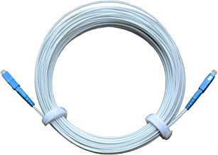 Jeirdus SC to SC 50Meters Indoor 9/125 Singlemode Hard Fiber Optic Cable Jumper Optical Patch Cord FTTH FIOS Home SC/UPC to SC/UPC