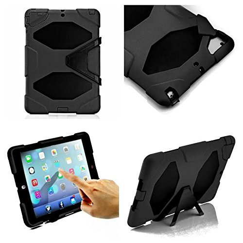 Apple Ipad Air New Black Shock Proof Smart Protective Survivor Case For Rough And Tough Use With Built In Screen Guard by DN-Alive