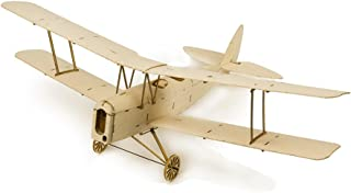 Dancing Wings Hobby Micro Indoor Balsa Wood Electric Airplane 400mm De Havilland DH82a Tiger Moth ;Balsa Laser-Cut Aircraft Kit to Build