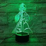XLLQYY 3D Illusion Light Led Night Light Game Rockman USB Touch Sensor Home Decorativo Child Cumpleaños Regalo Lámpara de Escritorio Mega M Mega Niños S Cumpleaños Vacaciones Regalos