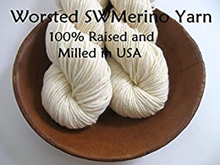 Bare Worsted Yarn 100% Superwash Merino Undyed Naked Ecru for Dyeing Knitting Crochet