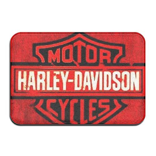 Best-design Harley Davidson felpudos de entrada para puerta delantera, alfombrilla de fieltro con respaldo antideslizante, apto para interiores y interiores, superabsorbentes de 60 x 40 cm