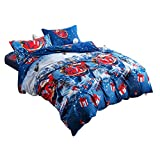 4pcs Christmas Style Bedding Set Queen Size Bed Sheet Bed Linen Quilt Cover