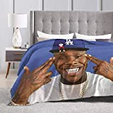 THWTHGTR Da-ba-by Suge Music Blankets, Comfortable and Soft Flannel Blankets, Light and Warm Decorative Blankets, Suitable for Sofas, Bedrooms, and Living Rooms in All Seasons