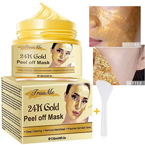 Blackhead Remover Maske, Mitesser Maske, Gold Maske Gesicht, Anti Aging Maske, Tiefenreinigung Porenschrumpfung der Gesichtsmaske, Anti Akne & Ölkontrolle Beruhigende & feuchtigkeitsspendende Haut