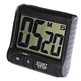 DaoRier 1pc Reloj de Cocina Temporizador Digital Cronómetro Corto Tiempo – Cuentaminutos Temporizador Cronómetro Temporizador Tiempo con LCD Negro Medium Negro