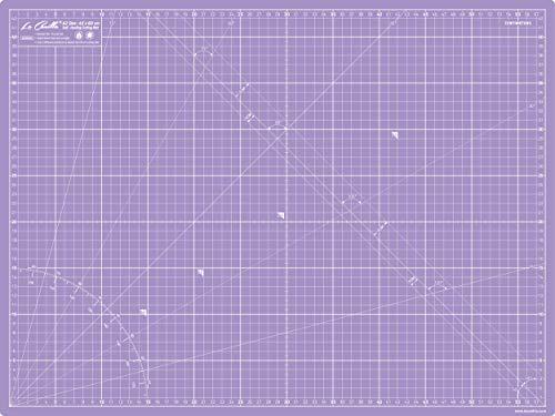 La Canilla ® - Base de Corte Autocicatricante Patchwork A2 (60x45cm) Centímetros y Pulgadas con Cuadrícula Cutting Mat de 5 capas para Costura y Manualidades - Alfombrilla de Corte (Lila)